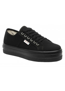 Zapatilla plataforma negro/blanco, Victoria