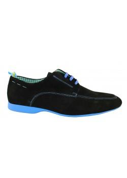 Zapato blucher negro /azul, Loret by BaMD