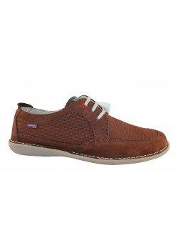 Zapato nobuck marrón/azul, Callaghan