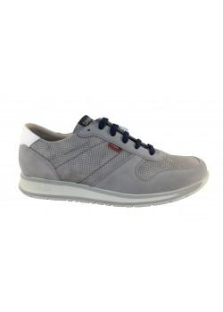 Zapato cordón gris/azul, Callaghan