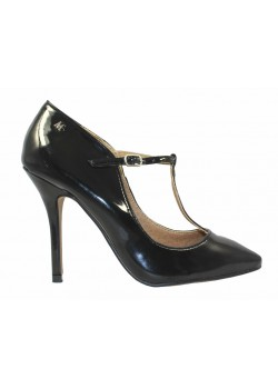 Zapato T-strap negro, Maria Mare