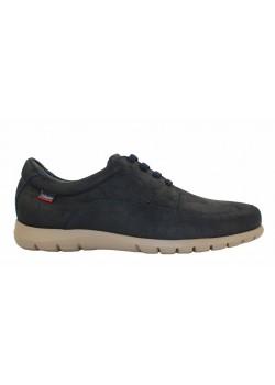 Zapato cordones nobuck azul, Callaghan