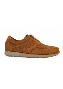 Zapato cordones nobuck cuero/negro, Callaghan