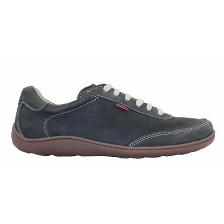 Zapato cordón piel nobuck azul, Callaghan