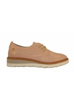Zapato plano cordones rosa/azul, Xti