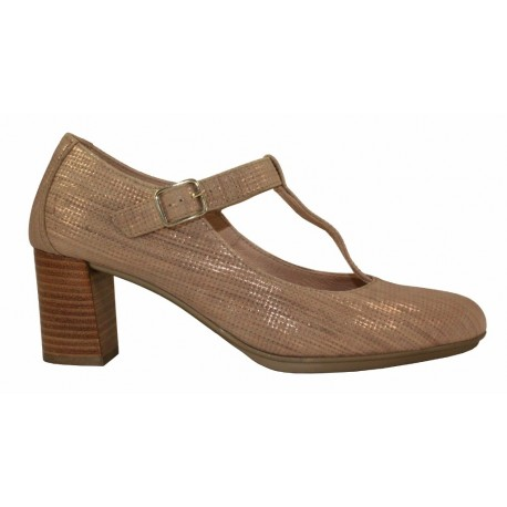 Zapato T-strap cobre, Hispanitas