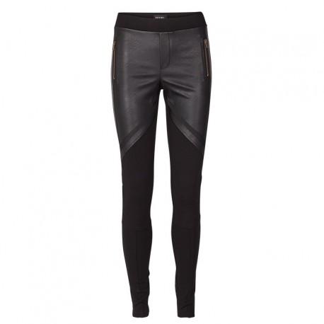 Pantalón jeggin negro/cuero
