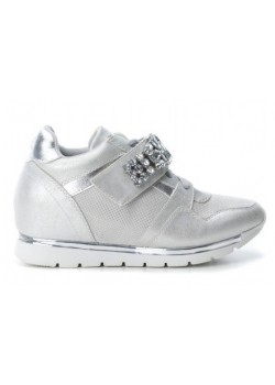 Zapatillas deportivas cuña metalizadas