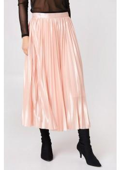 Falda plisada midi