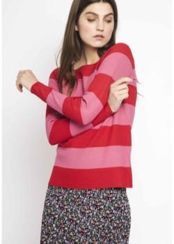 Jersey rayas rojo-rosa